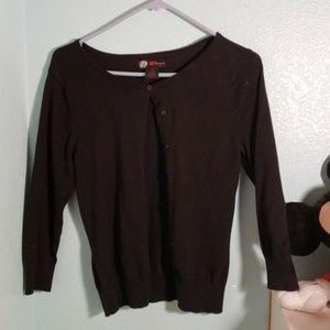 Sweaters - Black 3/4 length sleeve cardigan